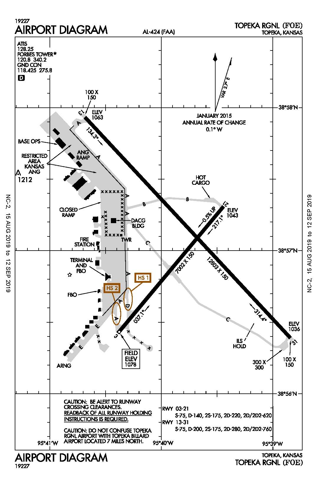 Topeka Regional Airport Map
